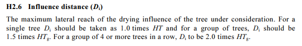Image 1: Clause H 2.6 from Appendix H of AS 2870 – 2011